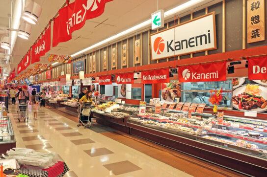 カネ美食品のテナント店舗