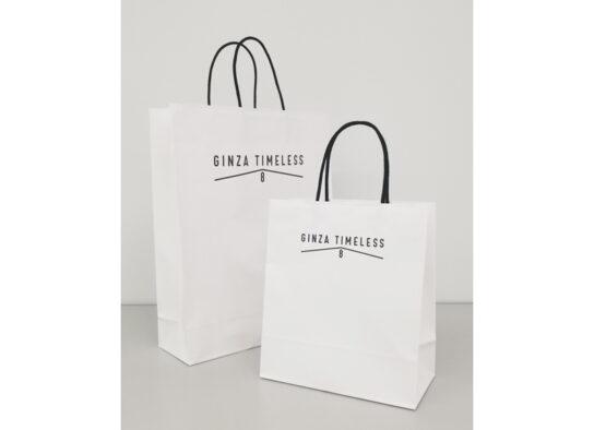 紙製のショッピングバッグに切り替え
