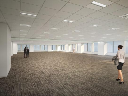 オフィスの基準階フロア