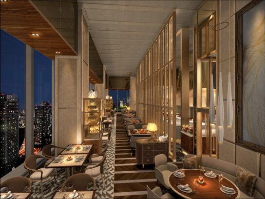 39階のレストランエリア