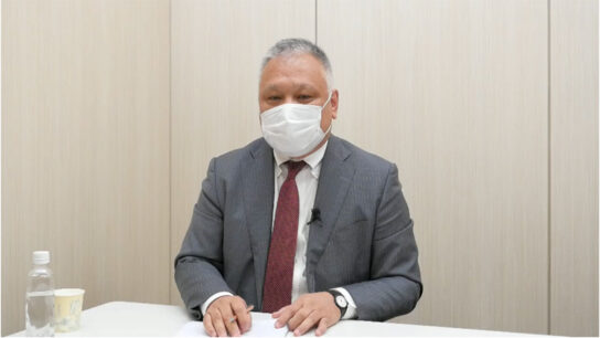 WEB会見に出席した藤本社長