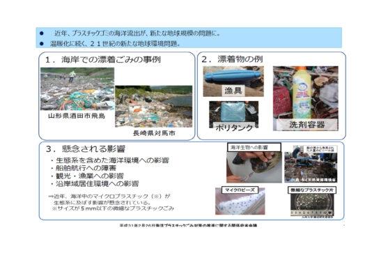 プラスチックごみ削減が国際的課題に