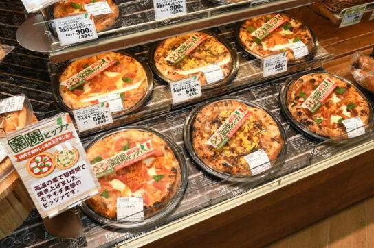 窯焼きピザ商品の一例
