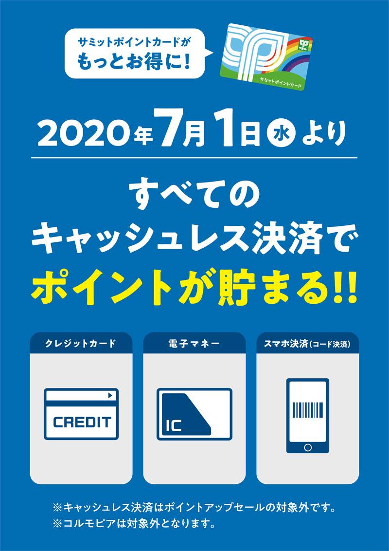 20200610summito - サミット/キャッシュレス決済でポイント付与