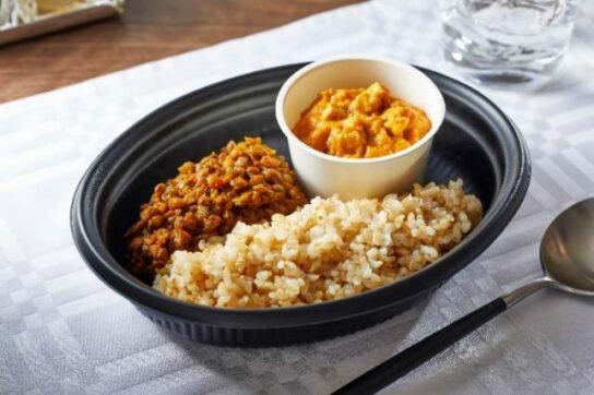 玄米のダールカレー(レンズ豆)&カシューナッツチキンカレー