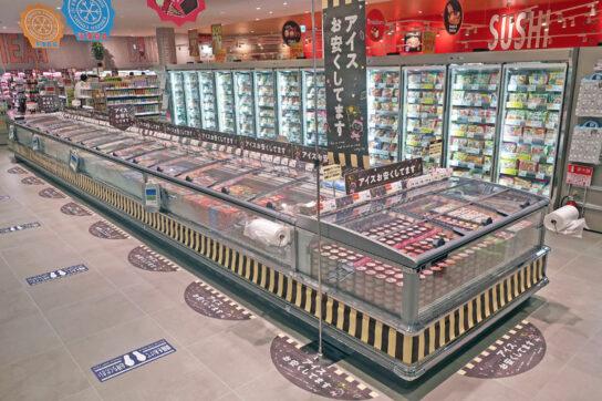 冷凍食品とアイスクリーム売場