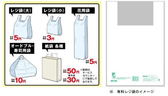 レジ袋「バイオマス素材配合」に変更