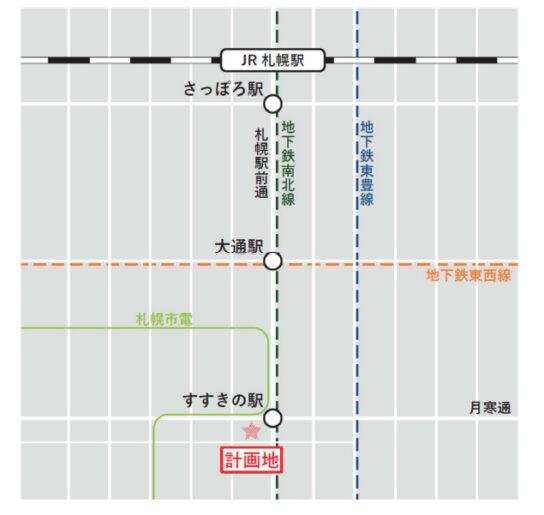 20200626tokyu 544x515 - 東急不動産、ヨーカドーなど/「(仮称)札幌すすきの駅前複合開発計画」