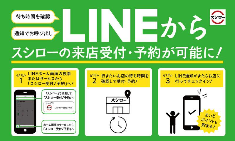 スシロー/LINEから来店受付・予約が可能に | 流通ニュース