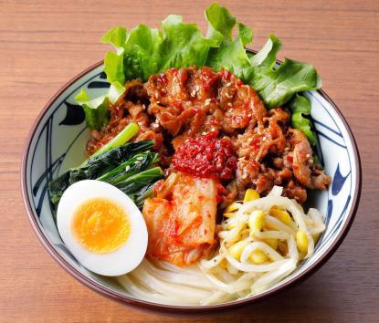 20200708udon2 - 丸亀製麺/夏季限定「牛焼肉冷麺」テールスープ使用