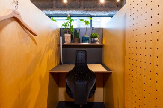 集中に最適なスペースの広さに設計