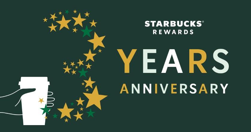 Starbucks Rewards3周年