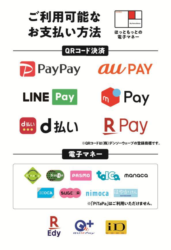 利用可能な支払い方法