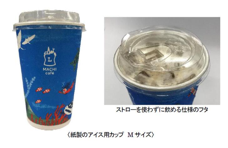 Mサイズプラカップを紙製に変更