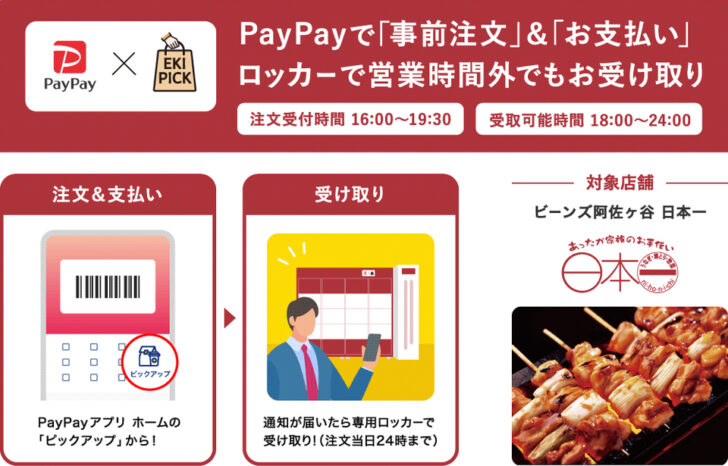 20210218p3 728x466 - 阿佐ヶ谷駅/PayPayアプリの注文「受取専用ロッカー」夜間利用を実験