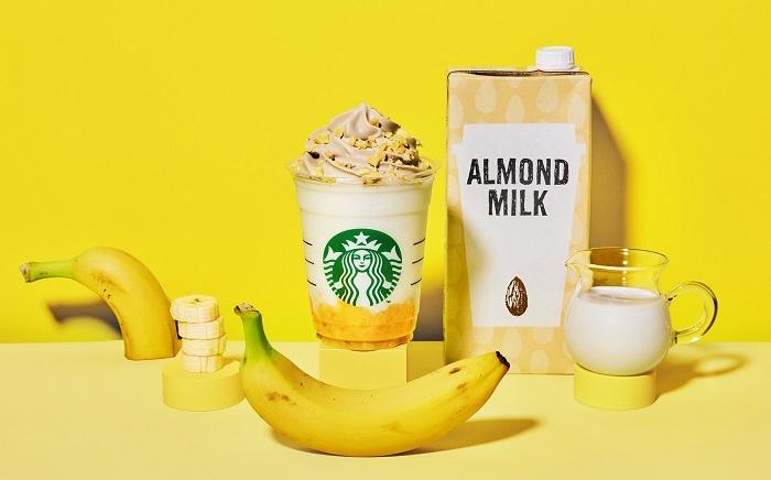 0308starbucks1 - スターバックス/「バナナンアーモンドミルク フラペチーノ」など春商品2種