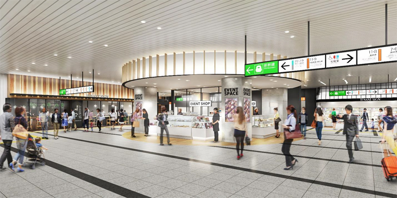 20210308oomiya - エキュート大宮ノース/イベントスペース「tui tui」設置