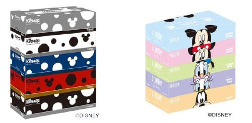 日本製紙/「ディズニー」のデザイン入りティシュ―2商品発売
