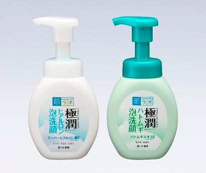 極潤ヒアルロン泡洗顔、極潤ハトムギ泡洗顔