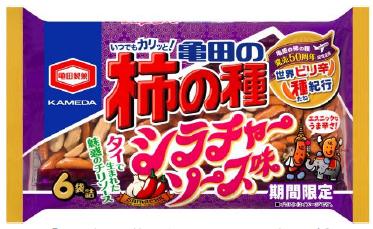 亀田の柿の種 シラチャーソース味 6袋詰