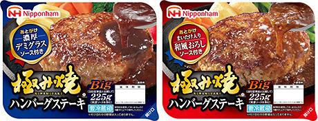 極み焼ハンバーグステーキ デミグラスソース・和風おろしソース