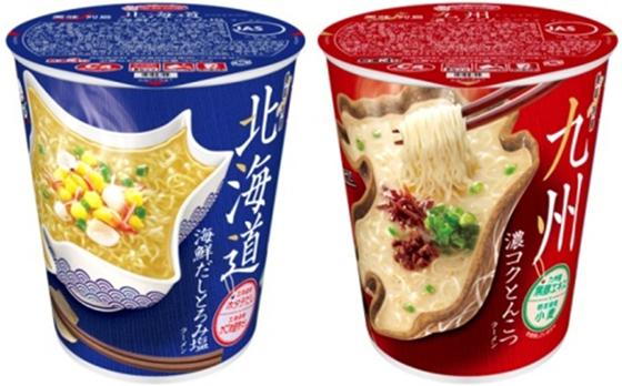 美味列島 北海道 海鮮だしとろみ塩ラーメン・九州 濃コクとんこつラーメン