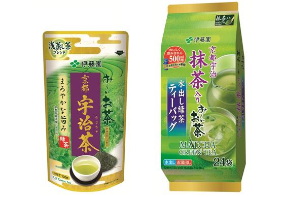 お~いお茶 京都宇治茶、お~いお茶 水出し緑茶ティーバッグ