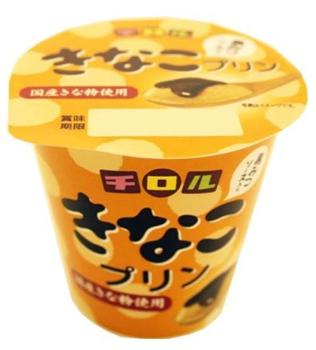 北海道乳業/チロルチョコとタイアップ「チロル きなこプリン 黒みつソース入り」