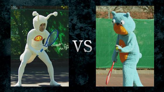 熊雄となだぎ武さんが様々な競技で真剣勝負