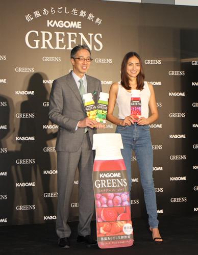 長谷川潤さんが「GREENS」ブランドのアンバサダーに就任