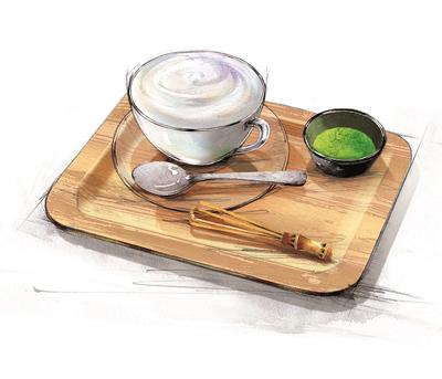 まるごと緑茶葉と味わう ふわふわグリーンラテ