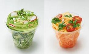 野菜を使用したベジヌードル