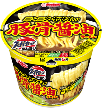 スーパーカップ極太盛り ニンニク・ヤサイ豚骨醤油ラーメン