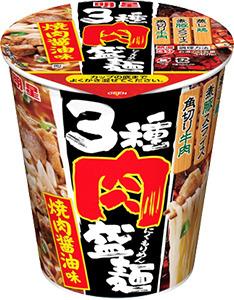 3種肉盛麺 焼肉醤油味