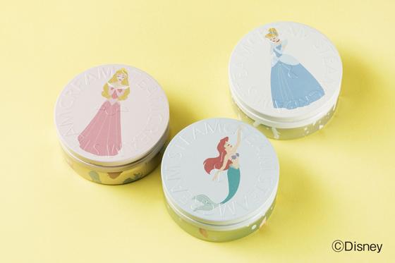 スチームクリーム「ディズニー・プリンセス」デザイン缶3種