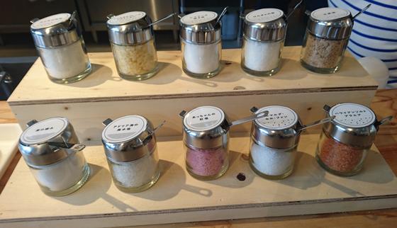 10種類の世界各国から厳選した個性豊かな塩