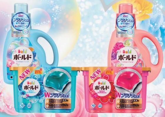 ボールド ジェルボールWプラチナ、液体洗剤「プラチナボールド」