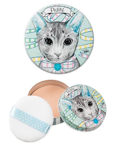 ポーラ・オルビスグループ/D[di:]描き下ろし猫デザイン缶のフェイスパウダー
