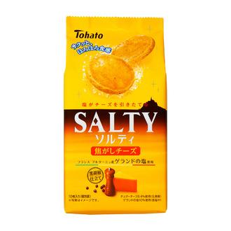 東ハト/ゲランドの塩使用「ソルティ 焦がしチーズ」