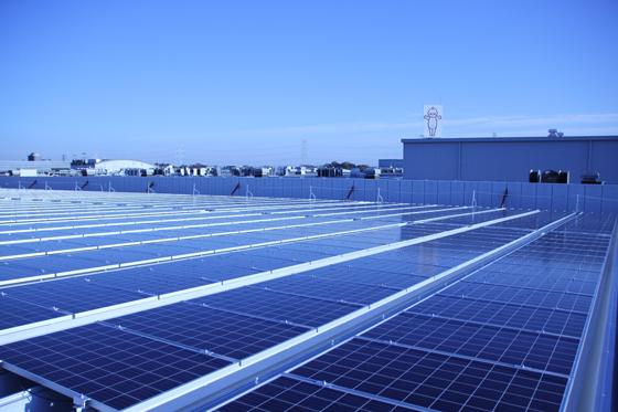 五霞工場の太陽光発電設備