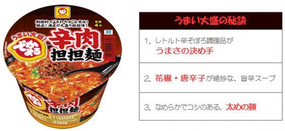 マルちゃん でかまる 辛肉担担麺