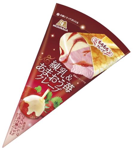 練乳&あまおう苺クレープ