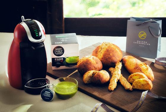 宇治抹茶に合うパン3種をメゾン・ランドゥメンヌと共同開発