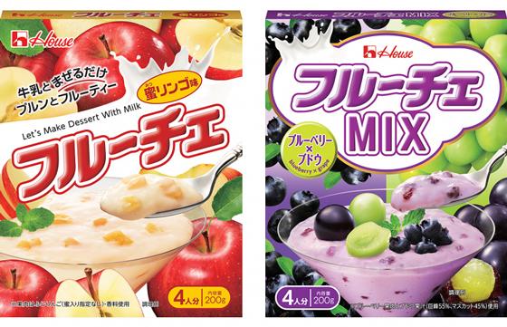 フルーチェ 蜜リンゴ味・MIX ブルーベリー×ブドウ
