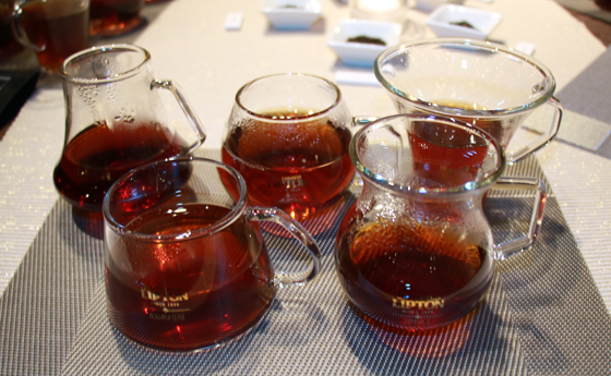 紅茶の香りや味わいを利き分ける「TEASTING」
