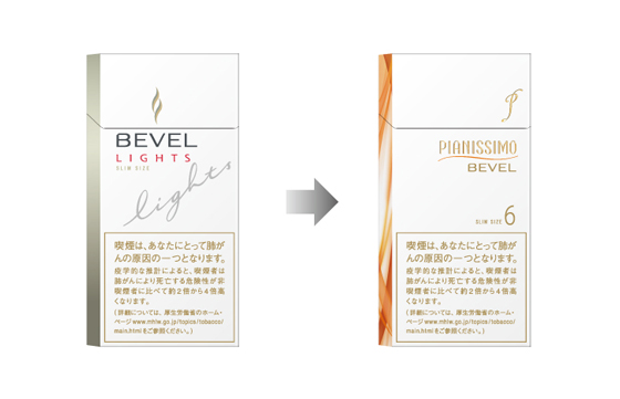 ベヴェル・ライトを「ピアニッシモ・ベヴェル・6」へリニューアル