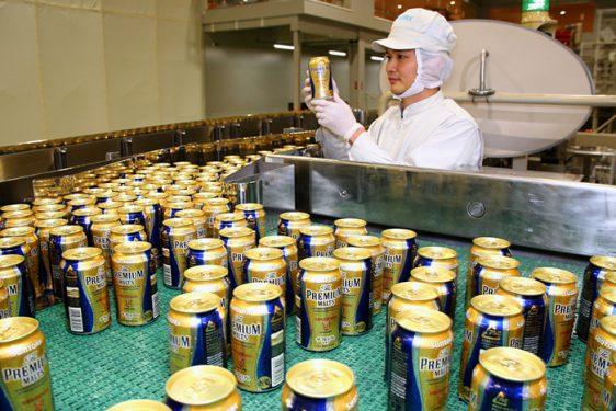 九州熊本工場でザ・プレミアム・モルツ缶を出荷再開