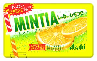 アサヒ/レモンスカッシュタブレット「ミンティア しゅわっとレモンC」
