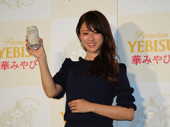 新CM発表会に深田恭子さんが登場