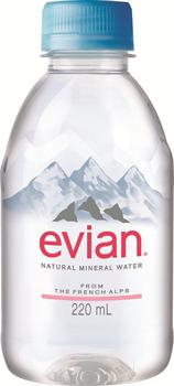 伊藤園/エビアン史上最小・超軽量の「エビアン220ml」ペットボトル